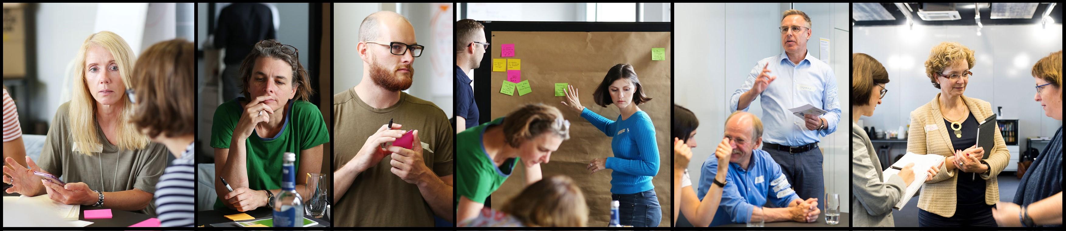 Im Service Design tauschen wir uns methodisch und co-kreativ miteinander aus.