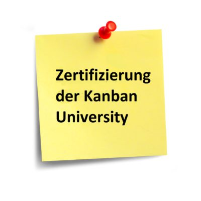 Zertifizierfizierung der Kanban University beim KMP 1 inklusive.