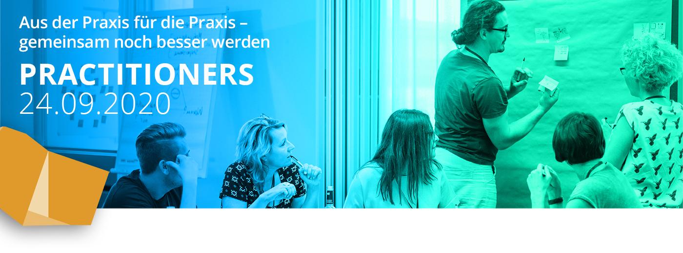 Aus der Praxis, für die Praxis - gemeinsam noch besser werden. Bei den Practitioners kommen Sie am 24.09.2020 in einen Service Design Austausch der Ihre Arbeit voranbringt.
